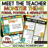 Meet the Teacher Open House EDITABLE templates Monster The