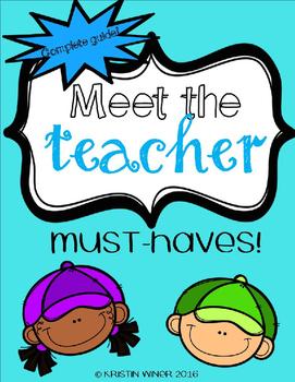 Meet the Teacher Must Haves!