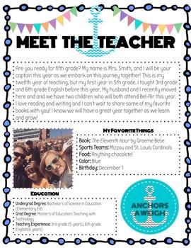 Meet the Teacher (Nautical Theme)