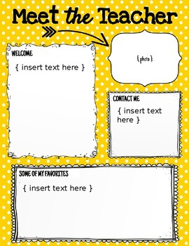 Meet the Teacher Newsletter - Back to School (EDITABLE & BRIGHT COLORS)