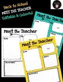 Meet the Teacher Newsletter - Back to School (EDITABLE & B