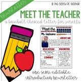 Meet the Teacher Newsletter - Baseball