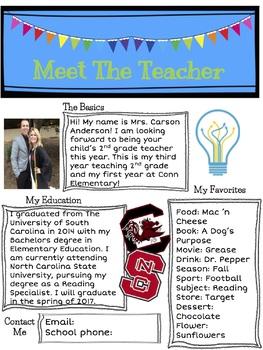 Meet the Teacher Newsletter - EDITABLE!