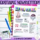 Meet the Teacher Newsletter- EDITABLE