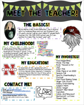 original-1372166-2 Teacher Introduction Newsletter Template on owl theme, for first grade, free preschool,