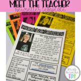 Meet the Teacher Newsletter- EDITABLE - Basic Printer Friendly