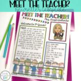 Meet the Teacher Newsletter Template - EDITABLE - Bright Kiddos