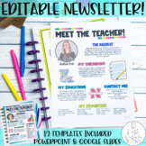 Meet the Teacher Newsletter Template EDITABLE Bright Stripes Back to School