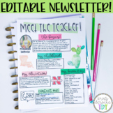 Meet the Teacher Newsletter - EDITABLE - Cactus