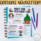 Meet the Teacher Newsletter  EDITABLE  Camping Theme
