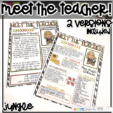 Meet the Teacher Newsletter Template- EDITABLE - Jungle