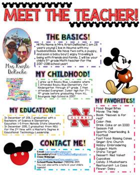 Meet the Teacher Newsletter- EDITABLE - Magical Theme