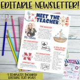 Meet the Teacher Newsletter- EDITABLE- Nautical (Red, White, Blue)