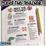 Meet the Teacher Newsletter - EDITABLE - Ocean
