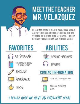 Free - Meet the Teacher Newsletter Editable - Spanish & English
