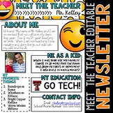 Emoji Meet the Teacher Newsletter Template EDITABLE