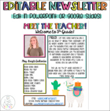 Meet the Teacher Newsletter Llama and Cactus Theme- Edit in Ppt or Google Slides