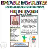 Meet The Teacher Newsletter Template | Editable | Llama an