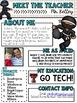 Meet the Teacher Newsletter: Ninjas - EDITABLE