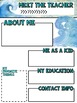 Meet the Teacher Newsletter: Ocean - EDITABLE