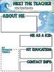Meet the Teacher Ocean Newsletter Template EDITABLE