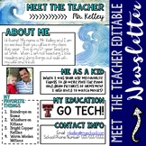 Meet the Teacher Ocean Newsletter Template EDITABLE
