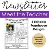 Meet the Teacher Newsletter & Student All About Me (Digita