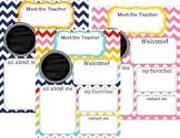 Back to School: Meet the Teacher Newsletter Template **editable**