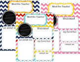 Back to School: Meet the Teacher Newsletter Template **editable**