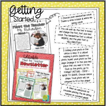 Meet the Teacher Newsletter Template: Dots