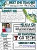 Meet the Teacher Newsletter: Turtles - EDITABLE