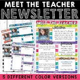 Meet the Teacher Newsletter - Watercolor