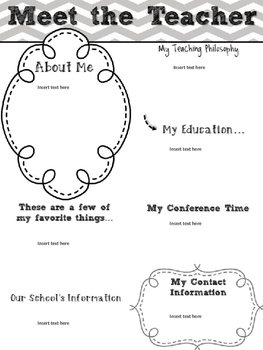 Meet the Teacher Newsletters-editable (28 color variations)