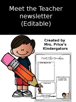 Meet the Teacher Newsletters (editable)