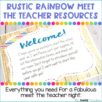 Meet the Teacher | Open House | Back to School Night: Rustic Rainbow