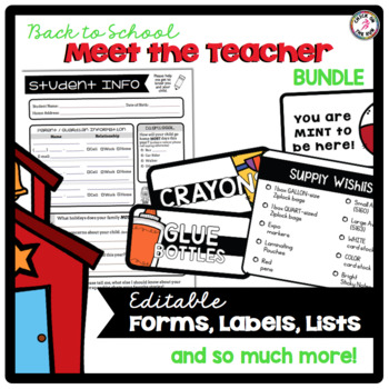 Meet the Teacher Night BUNDLE