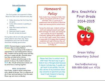 Meet the Teacher Night Brochure