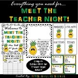 Meet the Teacher Night Bundle (Pineapple Theme) *Editable*