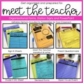 Editable Meet the Teacher Organizational Forms