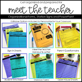 Meet the Teacher Open House Editable Templates and Organizational Forms