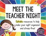 Meet the Teacher Night or Open House (Editable Displays)