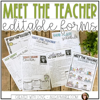 Meet the Teacher Editable Templates - Light Shiplap