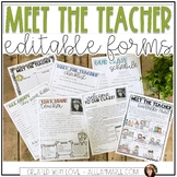 Meet the Teacher Night {Editable Forms}