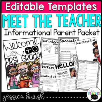 Meet the Teacher Night Editable Information Packet
