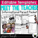 Meet the Teacher Night Editable Information Packet
