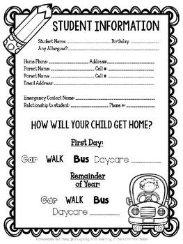 Meet the Teacher Night Essentials