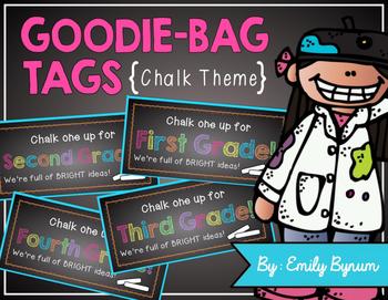 Meet the Teacher Night Goodie Bag Tags! (Chalk Themed!)