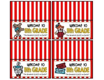 Meet the Teacher Night Goodie Bag Tags! (CircusThemed!)