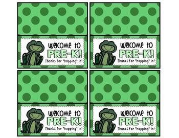 Meet the Teacher Night Goodie Bag Tags! (Frog Themed!)