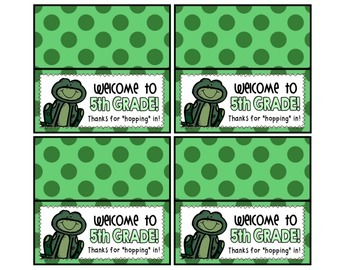 Meet the Teacher Night Goodie Bag Tags! (Frog Themed!)
